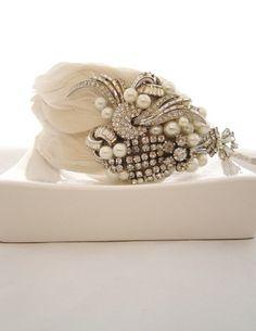 Great Gatsby hair accessories Sheena Holland Deco Dream feather headband
