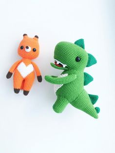 Personalize Stuff Animal Fox and Dragon Crochet Animal Stuffed Animal for Baby holding hands baby girl new baby gift, toddler set of 2 toys #plushsofttoy #crochetedanimals #stuffedanimals #crochetkidsanimals #babygranddaughter #babygirlgift #toddlertoy #babyfoxtoy #boybabyshower #imissyou #crochettoycartoon #giftforkids #toybypicture Toddler Boy Toys, Kids Toys, Baby Girl Gifts, New Baby Gifts, Crochet Animals, Crochet Toys, Doll Toys, Pet Toys, Animals For Kids