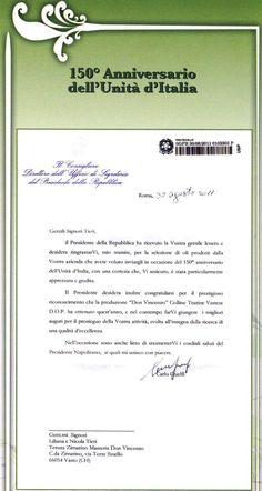 by the President of the Italian Republic Giorgio Napolitano