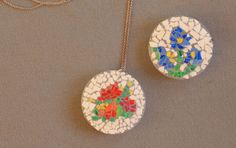 Looking for another use for eggshells?  Use them to make eggshell pendants!  Great Easter craft!
