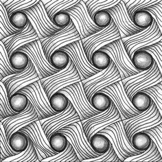 Pattern 0312 Doodle Art Drawing, Zentangle Drawings, Doodles Zentangles, Art Zen, Zantangle Art, Easy Zentangle Patterns, Zen Doodle Patterns, Tangle Doodle, Mandala Design