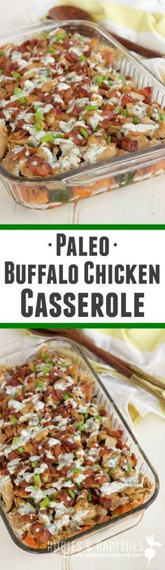 Paleo Buffalo Chicken Casserole - Rubies & Radishes