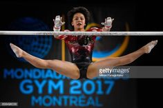 Mai Murakami of Japan competes on the uneven bars during the women's individual all-around final of the Artistic Gymnastics World Championships on October 2017 at Olympic Stadium in Montreal, Canada Gymnastics World, Gymnastics Photos, Gymnastics Photography, Gymnastics Outfits, Artistic Gymnastics, Gymnastics Championships, Floor Workouts, Creative Video, World Championship