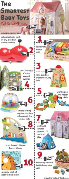 The Smartest Toys for Babies ages 12-24 Months http://www.incredibleinfant.com