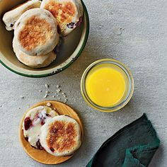 Cranberry English Muffins | MyRecipes.com