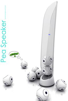 Pea Speaker --- little bluetooth-connected speakers so that the music can be spread throughout the house.