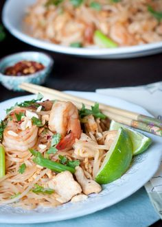 pad thai...one of my favorite dishes (use shrimp, chicken or tofu)