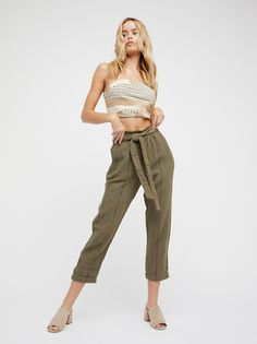 Wild Coast Pant | High rise pants featuring a super relaxed feel with an effortless tie at the waist.    * Elastic band at the waist   * Side pockets