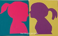 How to make a Silhouette Canvas with a Silhouette Cameo