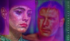 Sean Young, Harrison Ford by Henstepbatbot Sean Young, Harrison Ford, Digital Art, Joker, Portrait, Painting, Fictional Characters, Headshot Photography, Painting Art