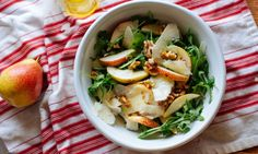 This classic salad combination of pear, rocket, walnuts and parmesan cheese that can be a light meal on its own or a great accompaniment to barbecued or grilled meat or fish.