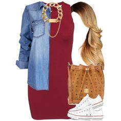 A fashion look from June 2015 by livelifefreelyy featuring Glamorous, Converse, MCM, Michael Kors and Givenchy