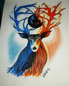 Deer drawing Deer tattoo #deerdrawing #deertattoo #deer  #deerdraw #deertatoodesing #deviantart #fanart