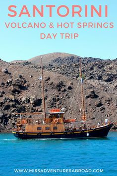 Exploring Santorini's Volcano & Hot Springs: A Day Trip. Ever dreamed of exploring Santorini, Greece? You'll want to check out this day trip boat tour of Santorini's volcano and amazing hot springs! Find out if you'll want to add this adventure to your own Greece bucket list!