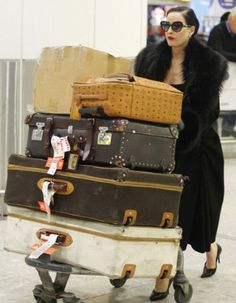 Dita Von Teese traveling in style. I love her!