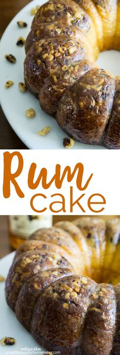 This easy butter rum cake with walnuts is dense and flavorful-a must for entertaining!