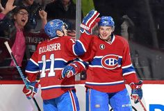 1.27.15 Stars vs Habs - The Gallys celebrate after Chuckie scores - Photo by Francois Lacasse NHLI via Getty Images
