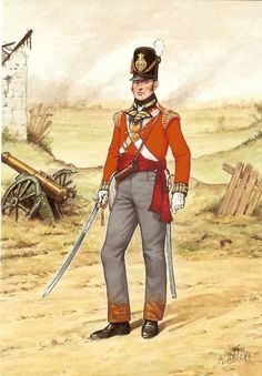 Officer 23rd Foot 1815.