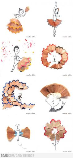 They're not a nuisance anymore, pencil shavings are ART! What has the world come to?