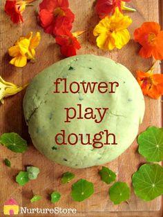 Flower play dough recipe for summer sensory play Playdough Activities, Infant Activities, Craft Activities, Nursery Activities, Indoor Activities, Preschool Ideas, Family Activities, Forest School Activities, Spring Activities