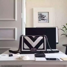 Chanel A67086 Boy Chanel Pleated Calfskin Medium Flap Bag Paris 2016
