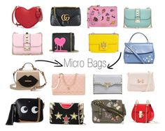 """Micro Bag"" by atypicalmode on Polyvore featuring moda, Moschino, Gucci, Anya Hindmarch, Givenchy, Valentino, Chanel, Michael Kors, Ted Baker e Love Moschino"