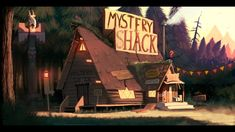 Gravity Falls - Mystery Shack (finished painting) by DFer32 on deviantART