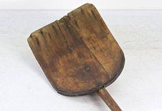 Primitive Wood Shovel Rustic Shovel Vintage Wood Shovel