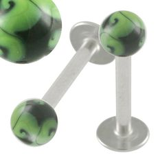 """$8.5 16g 16 gauge (1.2mm), 5/16"""" Inches (8mm) long - Stainless Steel Lip Bar Labret Ring Monroe Ear Tragus Stud Earrings Hand Painted balls HP18 ANML- Pierced Jewelry Body Piercing Jewellery- Set of 2From bodyjewellery $8.5"""