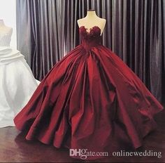 2016 Burgundy Quinceanera Dresses Ball Gown Sweetheart Lace Up Floor Length Masquerade Dresses Satin Appliques Vintage Long Prom Gowns V Neck Prom Dresses, Elegant Prom Dresses, Long Prom Gowns, Ball Gowns Prom, Ball Gown Dresses, Formal Evening Dresses, Evening Gowns, Sexy Dresses, Dress Formal