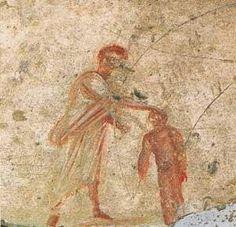 Bautismo de Cristo,aquí aparece como un niño.