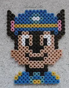 Pat& hobbies - Iron-on bead: Chase - Perler Bead Templates, Diy Perler Beads, Perler Bead Art, Hama Beads Patterns, Loom Patterns, Beading Patterns, Loom Beading, Quilt Patterns, Minecraft Beads