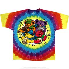 Grateful Dead Tie Dye T Shirt - Bear Jamboree – Blue Mountain Dyes - Free Shipping over $10