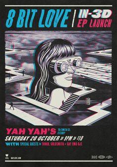 8 Bit Love - IN-3D EP by Andrew Fairclough - Sydney, Australia on Behance | Art Direction | Graphic Design | Illustration |