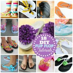 18 Fabulous DIY Flip Flop Tutorials Great for kids crafts, camp ideas, birthday parties, sleep overs and more!