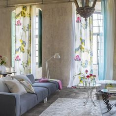 nymphaea - camellia fabric