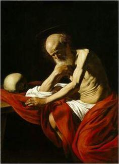 San Jerónimo penitente. Carvaggio.  (1605).