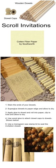 How To Make: Scroll Type Wedding Invitations                              …