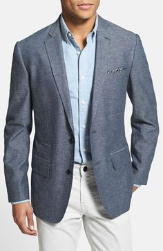 Wallin & Bros. Trim Fit Cotton & Linen Blazer available at #Nordstrom