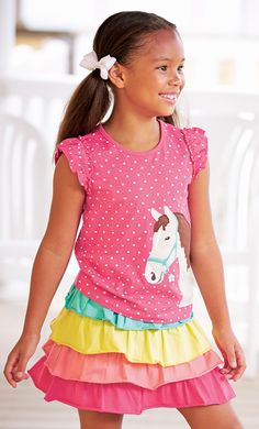 From CWDkids: Horse Applique Top & Skort