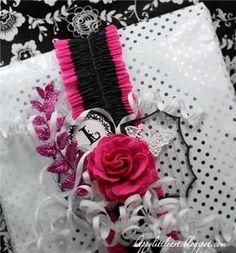 silver + pink + black