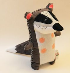 StitchedCreatures by Charles The Badger Handmade Soft Toy