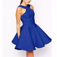 Sexy Flare Halter Women Skater Dress