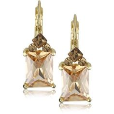 Leslie Danzis Topaz Crystal Drop Earrings - designer shoes, handbags, jewelry, watches, and fashion accessories | endless.com