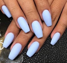 Image via We Heart It #blue #girl #manicure #nails