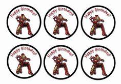 Iron Man – Cupcake Toppers – Birthday Printable