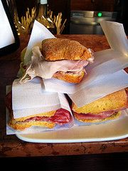 Porca, sopressa and manzo panini at Al Marca in The Rialto Market in Venice, Italy... (Nate Gray: A Culinary (Photo) Journal) Tags: venice italy food cooking shop cuisine restaurant italian europe beef eu meat pork ingredients panini venezia europeanunion italianfood salami maiale italiana italiancuisine veneto porca manzo rialtomarket venesia foodculture cucinaitaliana sopressa almarc cuxinaveneta venetiancuisine panto