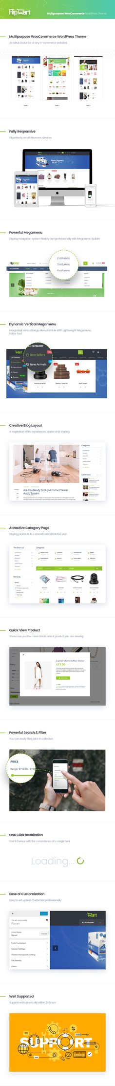 Download Flipcart- Multipurpose WooCommerce WordPress Theme (WooCommerce)  Theme Overview  You are raising an idea to invest and open an online store to sell so many different things. You feel tired to visit so many demos to choose the suitable theme for you. Dont worry! Flipcart  Multipurpose WooCommerce WordPress Theme is a perfect choice to experience. The excellent theme is suitable for any e-commerce websites such as for mega store beauty cosmetic fashion food furniture toys auto tools…