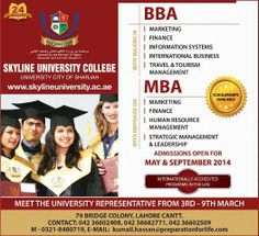 BBA & MBA Admission 2014