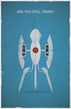 Portal Are You Still There Video Game Poster by WestGraphics